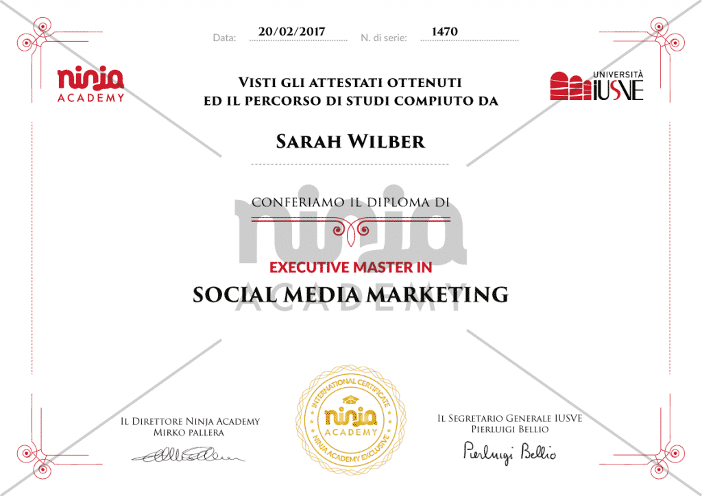 Executive master in social media marketing