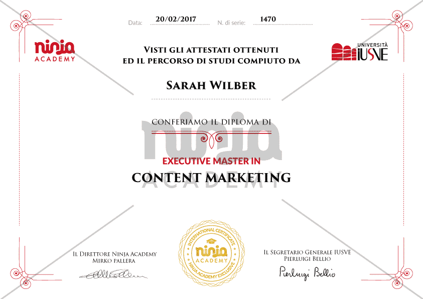 Executive Master in Content Marketing