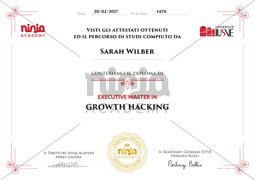 Executive Master in Growth Hacking