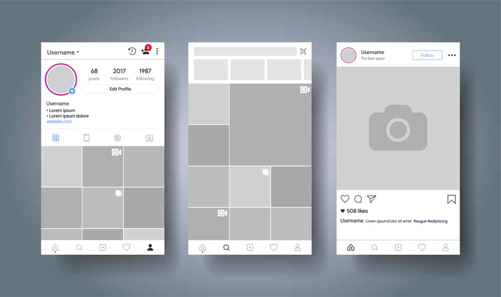 come funziona Instagram layout