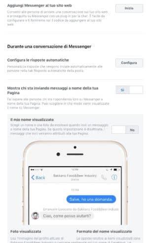configurare impostazioni per gestire pagina facebook